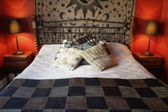 Warm Rustic Bedroom Royalty Free Stock Photography