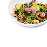 Warm salad with a cutting of a lamb Royalty Free Stock Photography