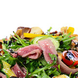 Warm salad with a cutting of a lamb Stock Image