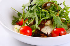 Warm salad with cutting of lamb Stock Photography