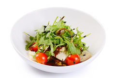 Warm salad with cutting of lamb Stock Images