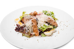 Warm salad with grilled salmon. Royalty Free Stock Photography