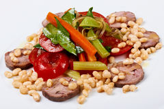 Warm Salad with Meat Roulette Royalty Free Stock Photography