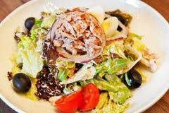 Warm salad with tuna Stock Photography