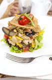 Warm salad of vegetables and meat Royalty Free Stock Photos