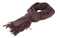 Warm scarf in brown Stock Image