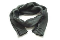 Warm scarf dark green. Warm scarf on a white background royalty free stock photo