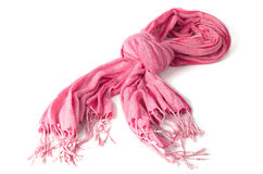 Warm scarf in pink Royalty Free Stock Image