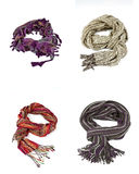Warm scarves for winter Royalty Free Stock Photography