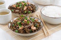 Warm Sea Cabbage Salad With Fried Tofu Stock Photo - Image: 83534371