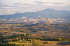 A warm September evening over Tuscany. Italy. A warm September evening over Tuscany, Italy royalty free stock image