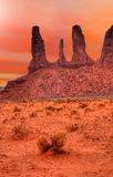 Warm Skies Monument Valley Stock Images