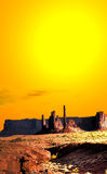 Warm Skies Monument Valley Stock Photos