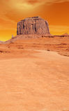 Warm Skies Monument Valley Royalty Free Stock Photography