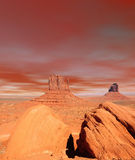 Warm Skies Monument Valley Royalty Free Stock Photo