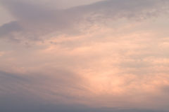 Warm sky while sunset Royalty Free Stock Photography