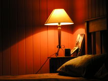 Warm slaapkamerlicht Royalty-vrije Stock Foto's