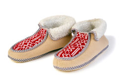 Warm slippers Royalty Free Stock Image