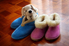 Warm Slippers Stock Photo