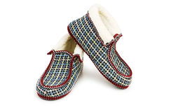 Warm slippers isolated Stock Image
