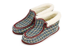 Warm slippers isolated Royalty Free Stock Images
