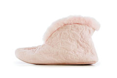 Warm slippers isolated on the white Stock Image