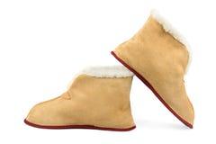 Warm slippers Stock Photo