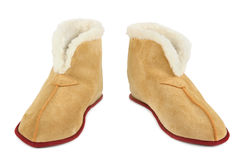 Warm slippers Royalty Free Stock Photo