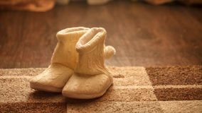 Warm slippers. Ugg boots. Stock Image