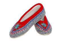 Warm slippers used by Polish highlanders Royalty Free Stock Images