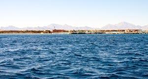 warm smaragdgroen water van het overzees in Egypte Royalty-vrije Stock Fotografie