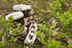 Free Warm Socks In The Forest Royalty Free Stock Photo - 54931015