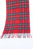 Warm and soft red Tartan Scarves. Isolated on white background Stock Images
