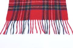Warm and soft red Tartan Scarves. Isolated on white background Royalty Free Stock Photography