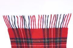 Warm and soft red Tartan Scarves. Isolated on white background Royalty Free Stock Photos