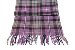 Warm and soft violet Tartan Scarves Stock Image