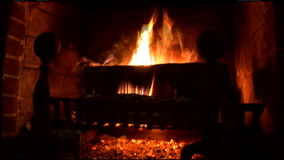 Warm, Soothing Fireplace Fire stock video footage