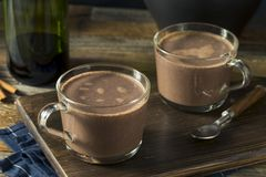 Warm Spiked Red Wine Hot Chocolate. In a Mug Stock Photos