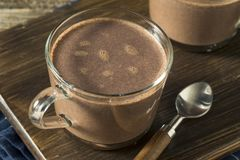 Warm Spiked Red Wine Hot Chocolate. In a Mug Stock Images