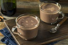 Warm Spiked Red Wine Hot Chocolate. In a Mug Royalty Free Stock Photos