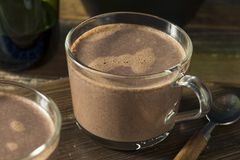 Warm Spiked Red Wine Hot Chocolate. In a Mug Royalty Free Stock Image