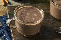 Warm Spiked Red Wine Hot Chocolate Stock Images