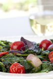 Warm Spinach Salad Royalty Free Stock Photos