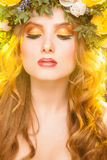 Warm spring woman's portrait Stock Images