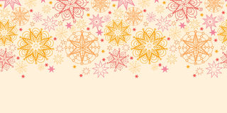 Warm stars horizontal seamless pattern background Royalty Free Stock Image