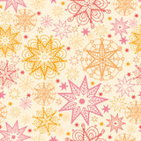 Warm stars seamless pattern background Stock Photos