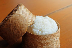 Warm Sticky Rice In The Bamboo Package Royalty Free Stock Image