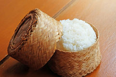 Warm Sticky Rice In The Bamboo Package Royalty Free Stock Photography