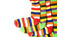 Warm striped socks royalty free stock image