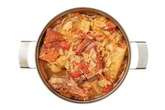 Stuffed cabbage with pork Stock Image
